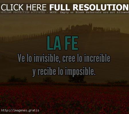Frases de motivaciones de Fe para el éxito en la vida