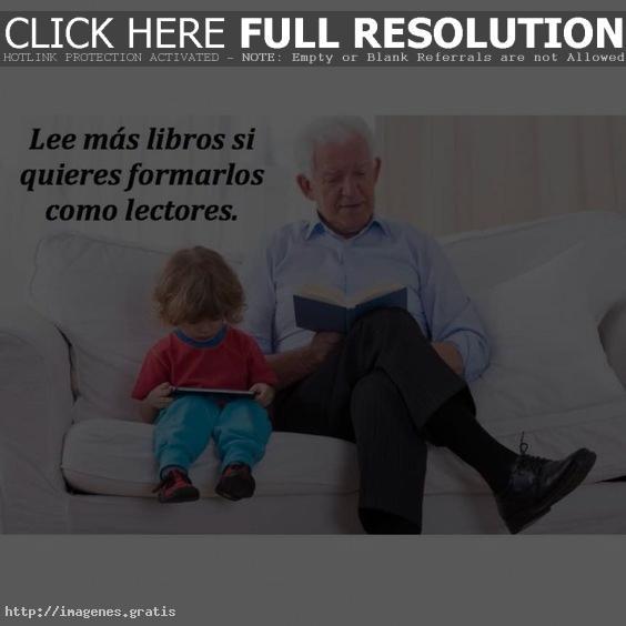 Un hijo aprende de su padre