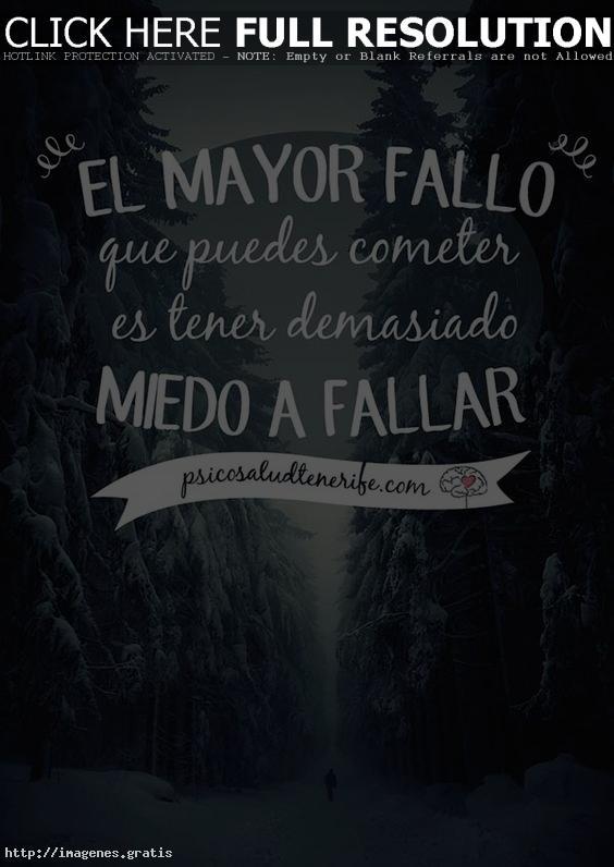 El miedo es la emoción mas difícil