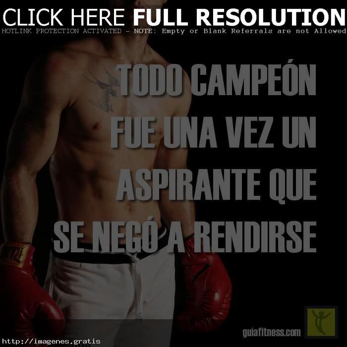 Frases De Entrenamiento Todo Campeon Imagenes Gratis