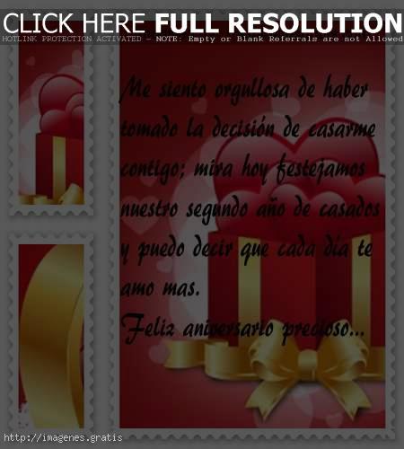 Tarjetas para aniversarios de casados