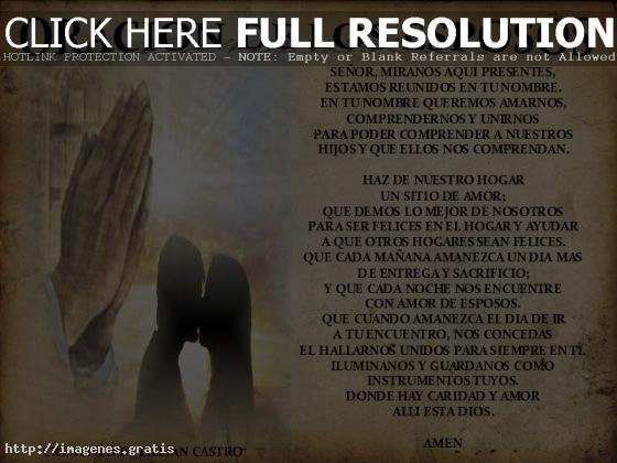 Salmos Del Matrimonio Catolico : Postales de bodas oración los esposos imagenes gratis