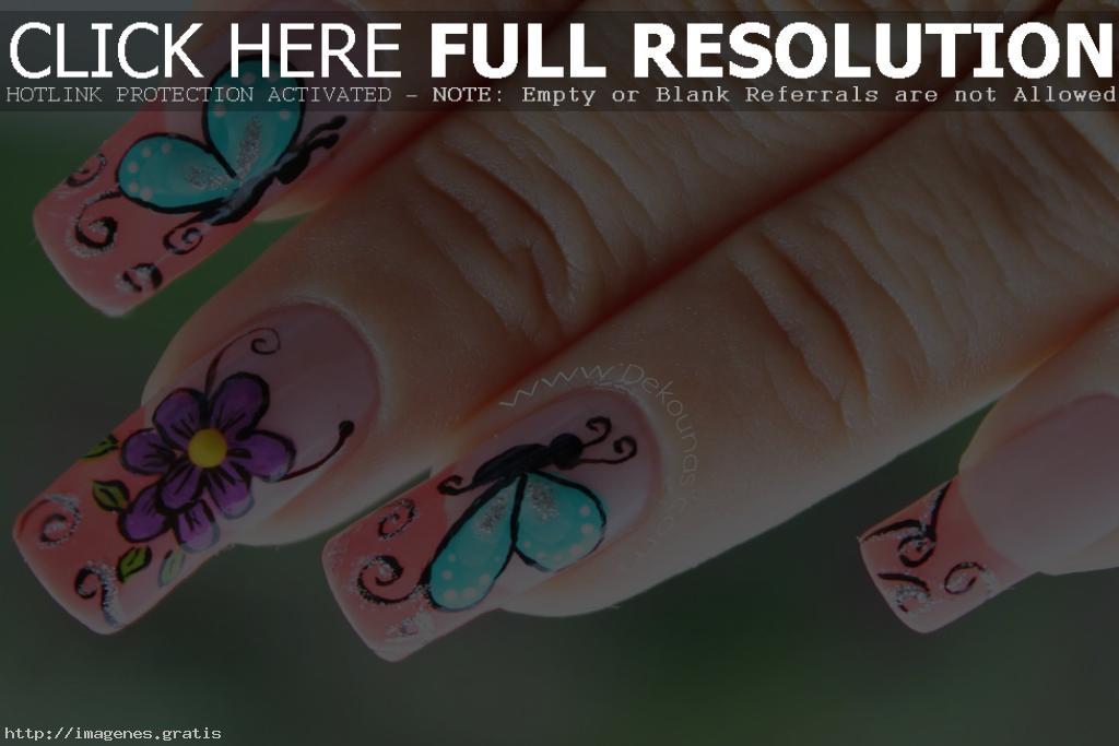 Galeria de imagenes con diseños de uñas decoradas
