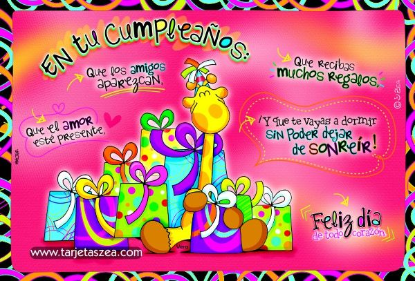 Amor y Sentimientos para felicitar en los cumpleaños