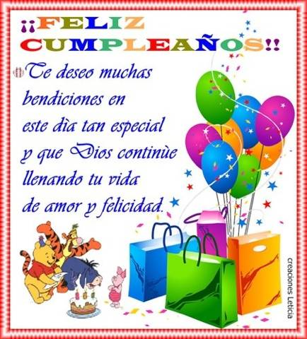 Poemas De Happy Birthday Con Versos Para Decir