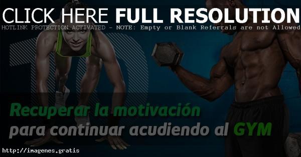 Enseñanzas de motivación para el GYM