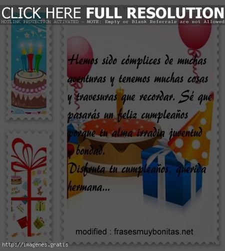 Postales de feliz cumpleaños para hermanas