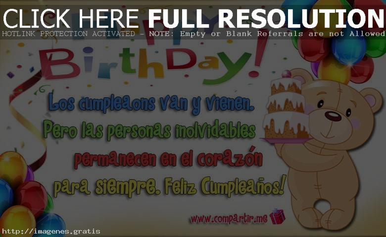 Felicidades de cumpleaños en forma de postales para dedicar