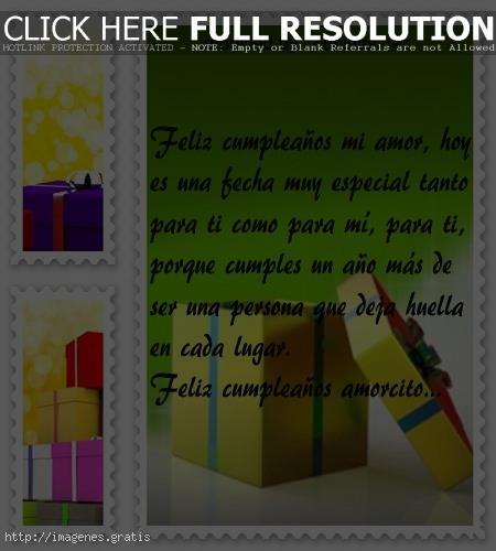 Tarjetas de Cumpleaños para mi Amor