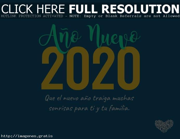 Imagenes con saludos de Año Nuevo 2020