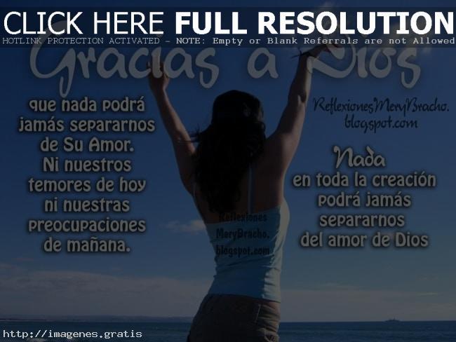 Agradecimientos de Felicidad o Gracias a dios
