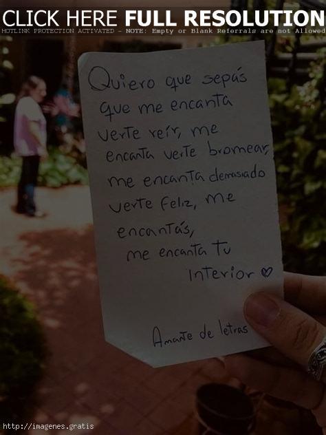 Quiero que sepas